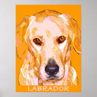 Poster de la pintura del labrador retriever