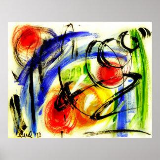 """Poster de la pintura del """"viaje espacial"""" del arte"""