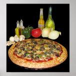 Poster de la pizza