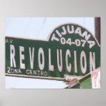 Poster de la placa de calle de la revolución de Ti