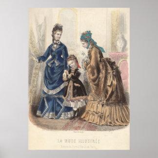 Poster de la placa de moda antigua - Heloise Leloi