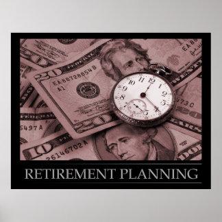 Poster de la planificación de la jubilación