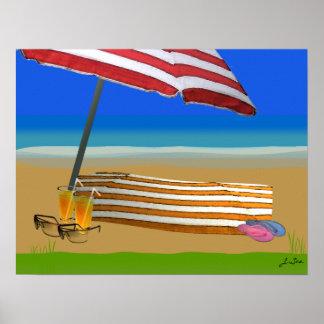 Poster de la playa Act2 del verano