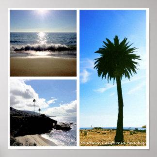 Poster de la playa de California