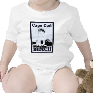 Poster de la playa de Cape Cod Trajes De Bebé