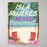Poster de la playa de Isla Mujeres México