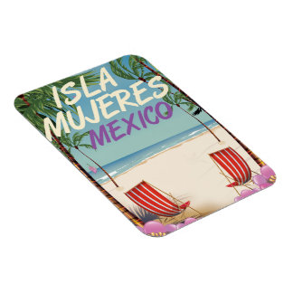 Poster de la playa de Isla Mujeres México Iman Flexible