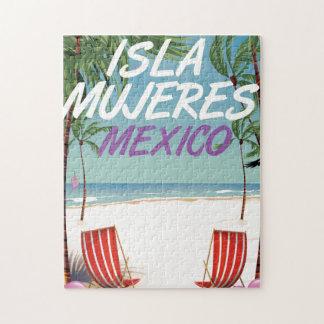Poster de la playa de Isla Mujeres México Puzzle Con Fotos