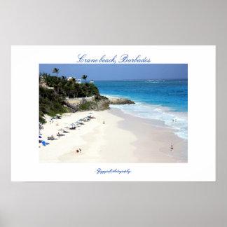 Poster de la playa de la grúa