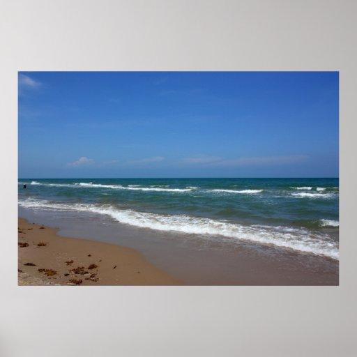 Poster de la playa de la isla de Padre