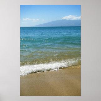 Poster de la playa de Maui