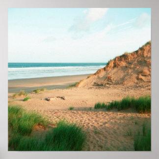 Poster de la playa de Rhossili, el Gower, País de