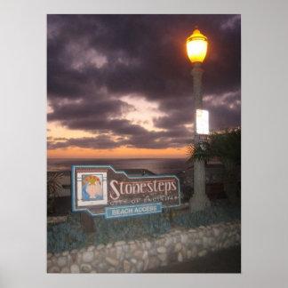 Poster de la playa de Stonesteps