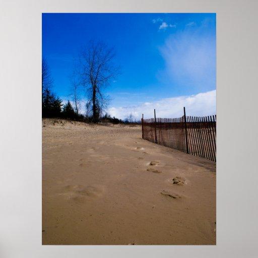 Poster de la playa del condado de Door