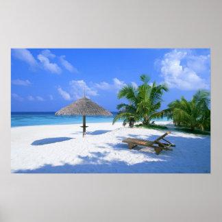 Poster de la playa del paraíso póster