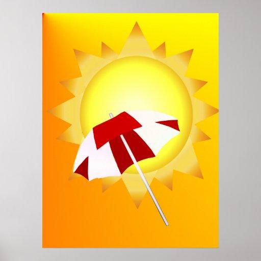 Poster de la playa del tiempo de verano