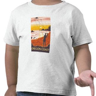 Poster de la playa y del viaje de KitesCoastVintag Camiseta
