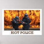 Poster de la policía antidisturbios