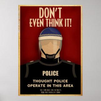 Poster de la policía del pensamiento