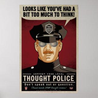 Poster de la policía del pensamiento póster