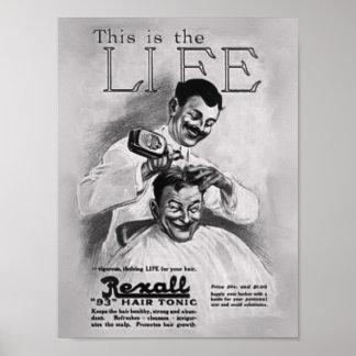 Poster de la preparación del peluquero