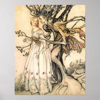 Poster de la princesa del cuento de hadas y del du