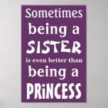 Poster de la princesa para las hermanas