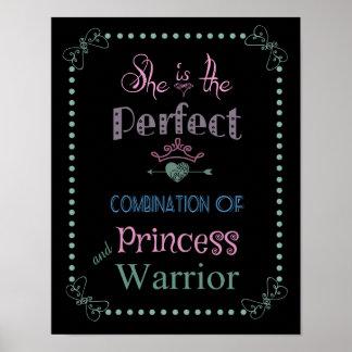 Poster de la princesa y del guerrero