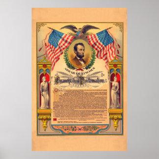 Poster de la proclamación de la emancipación