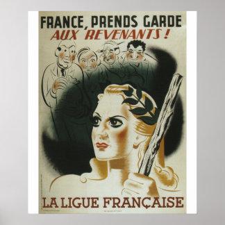 Poster de la propaganda de Laligue Francaise
