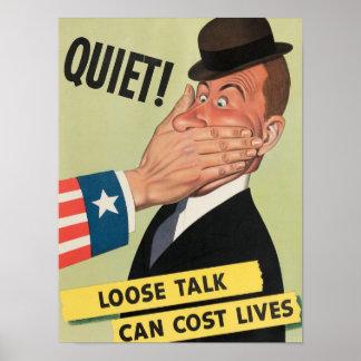 Poster de la propaganda de WW2 los E.E.U.U. Póster