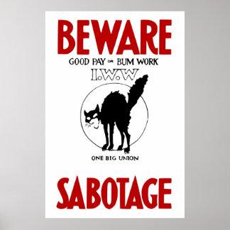 Poster de la propaganda del vintage IWW