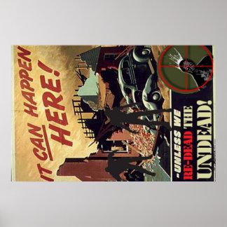 poster de la propaganda del zombi