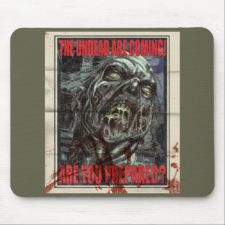 Poster de la propaganda del zombi tapete de ratón