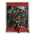 Poster de la propaganda del zombi tarjeta postal