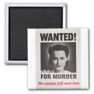 """Poster de la propaganda """"querido para el asesinato imán de frigorifico"""
