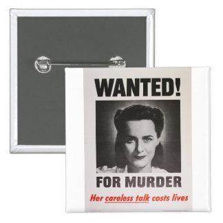 """Poster de la propaganda """"querido para el asesinato pin"""