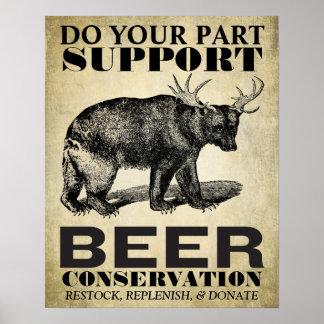 Poster de la protección de la cerveza