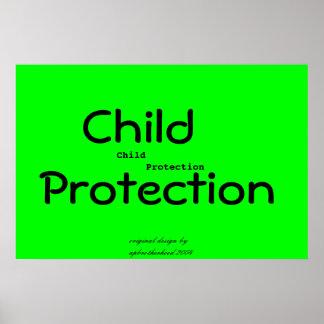 Poster de la protección del niño