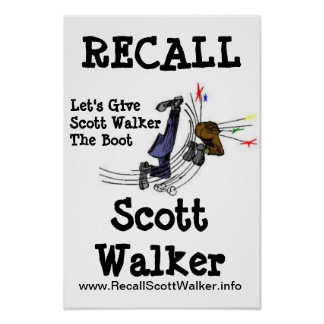 Poster de la protesta del caminante de Scott de me