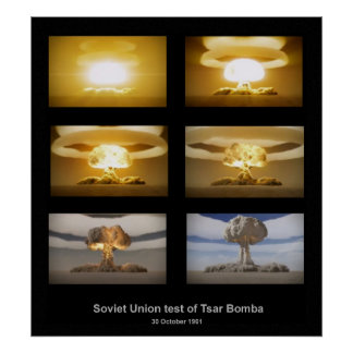 Poster de la prueba de Bomba del Tsar de URSS
