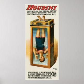Poster de la publicidad de Houdini, 1913