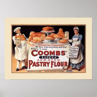Poster de la publicidad de la harina del vintage