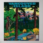 Poster de la publicidad de la isla de Vancouver