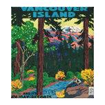 Poster de la publicidad de la isla de Vancouver Impresion De Lienzo