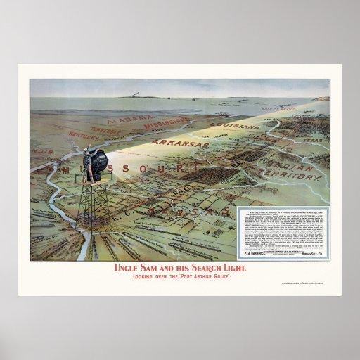 Poster de la publicidad de la ruta del ferrocarril