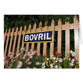 Poster de la publicidad del Bovril Tarjeta De Felicitación
