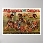 Poster de la publicidad del circo de Barnes a part