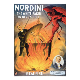 """Poster de la publicidad del mago de Nordini del Invitación 5"""" X 7"""""""