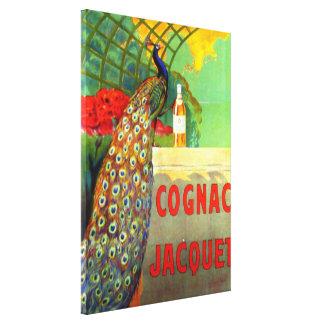 Poster de la publicidad del vintage de Jacquet del Lona Envuelta Para Galerias